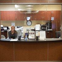 Advanced Spine Center reception desk