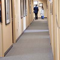 Advanced Spine Center hallway with doctor's offices