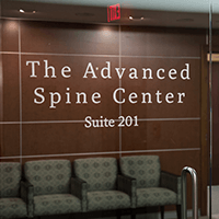 Advanced Spine Center waiting area