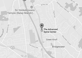 Bridgewater, NJ Office Map