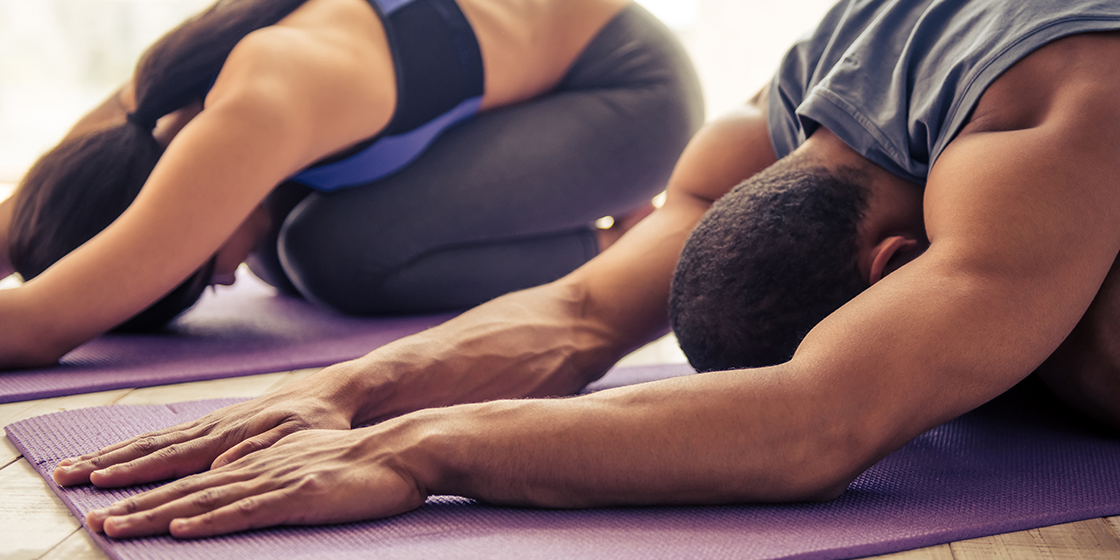 couple completes sciatica stretches