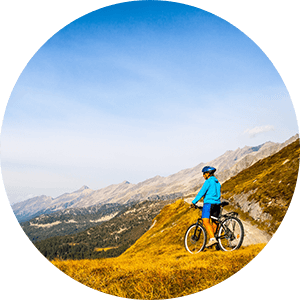 mountain biker after spine surgery recovery