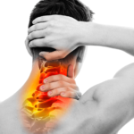 man with cervicogenic headache from neck pain