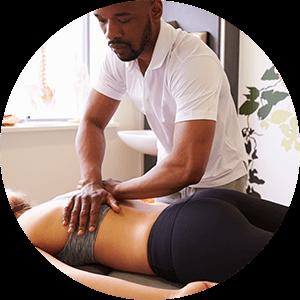chiropractor treating back pain