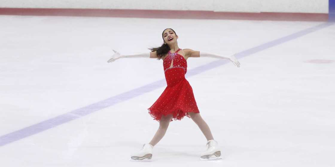 Cheri figure skating at nationals after scoliosis surgery