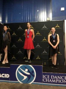 cherri being awarded first at nationals for ice skating